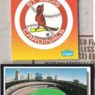 CARDINALS MLB Fleer Logo Sticker + Busch Stad. Card