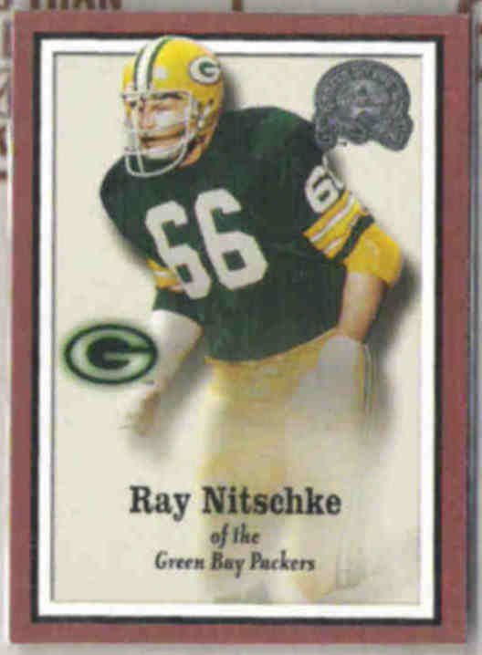 RAY NITSCHKE 2000 Fleer Greats #91.  PACKERS