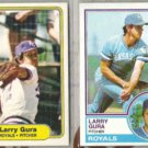 LARRY GURA 1982 Fleer + 1983 Topps.  ROYALS