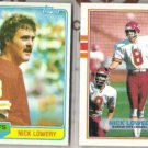 NICK LOWERY 1981 + 1989 Topps.  CHIEFS