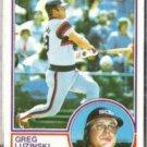 GREG LUZINSKI 1983 Topps #310.  WHITE SOX