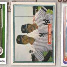 TOMMY JOHN (3) Card Lot  w/ 1982 Topps, 1989 UD.  YANKEES