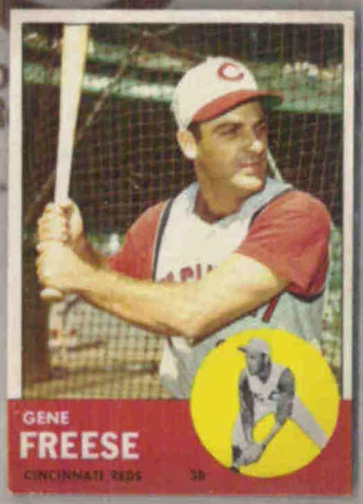 GENE FREESE 1963 Topps #133.  REDS  Crease Free