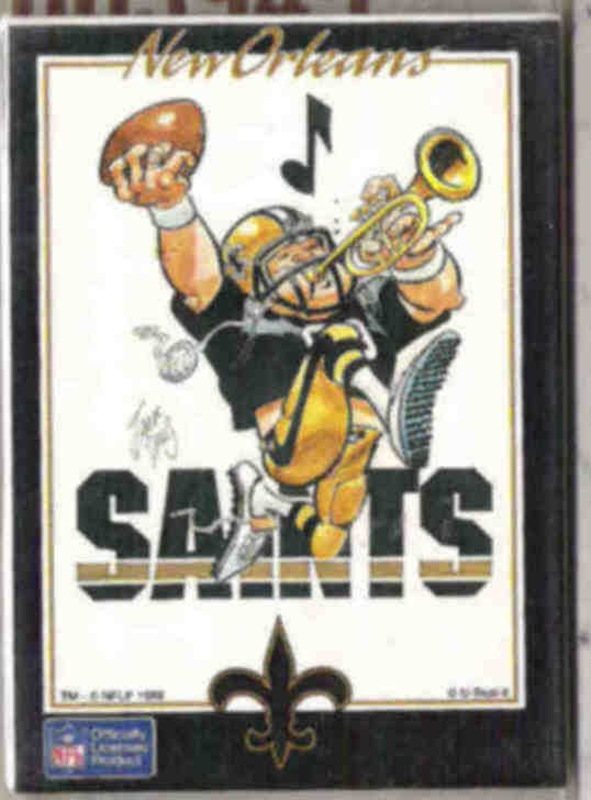 SAINTS Logo Card SEALED 1988.  U-Seal-It