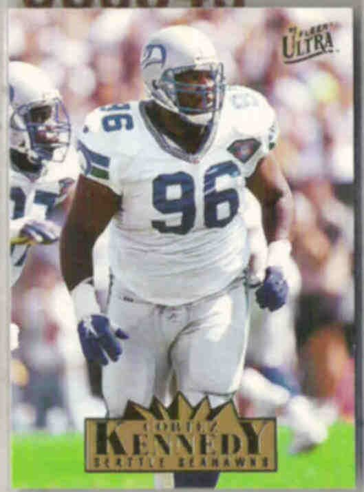 CORTEZ KENNEDY 1995 Fleer Ultra #317.  SEAHAWKS