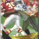 CORTEZ KENNEDY 1993 Wild Card (5) Stripe Ins. #177.  SEAHAWKS