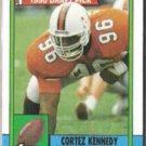 CORTEZ KENNEDY 1990 Topps Draft #334.  SEAHAWKS