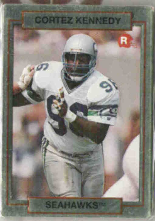 CORTEZ KENNEDY 1990 Action Packed RC #39.  SEAHAWKS