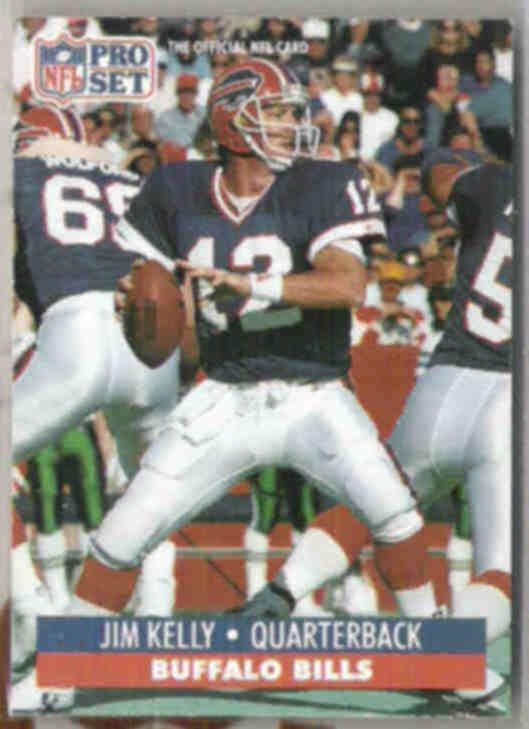 JIM KELLY 1991 Pro Set #78.  BILLS