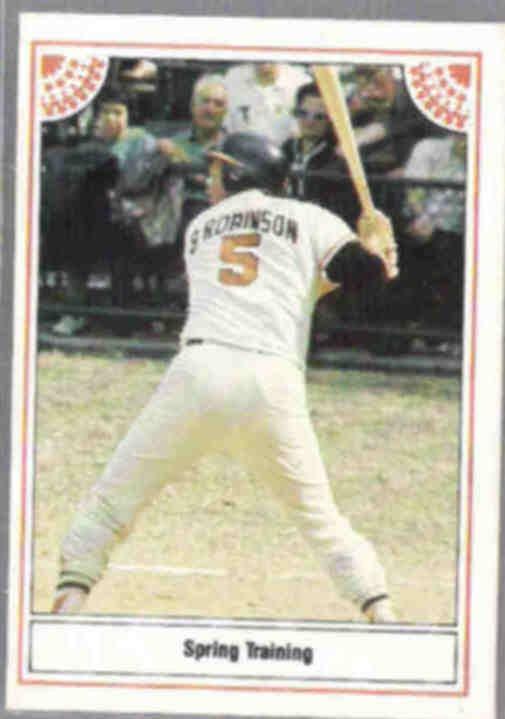 BROOKS ROBINSON 1983 ASA Inc. #9 of 12.  ORIOLES