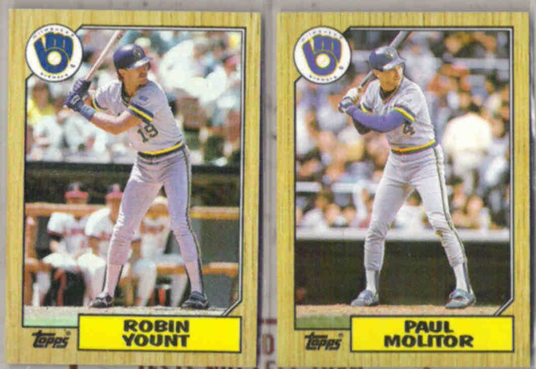 MOLITOR + YOUNT 1987 Topps.  BREWERS