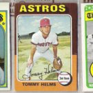 TOMMY HELMS (3) Card Lot - 1969, 72 + 75.  ASTROS / REDS