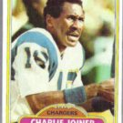 CHARLIE JOINER 1980 Topps #28.  CHARGERS