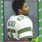 WESLEY WALKER 1986 Topps #99.  JETS
