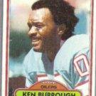 KEN BURROUGH 1980 Topps #471.  OILERS