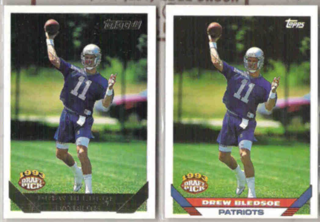 DREW BLEDSOE 1993 Topps Draft GOLD Ins. w/ sister.  PATRIOTS