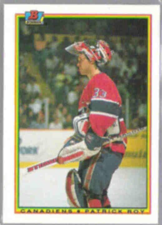 PATRICK ROY 1990 Bowman #50.  CANADIENS