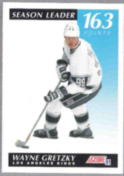WAYNE GRETZKY 1991 Score Leader #296.  KINGS
