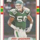 JEFF LAGEMAN 1989 Topps Traded #49T.  JETS