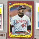 REGGIE JACKSON (3) Cards w/ 1984 Topps, 1986 Fleer Sticker.  ANGELS