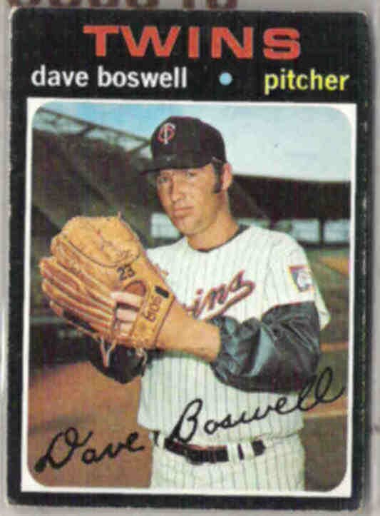 DAVE BOSWELL 1971 Topps #675.  TWINS