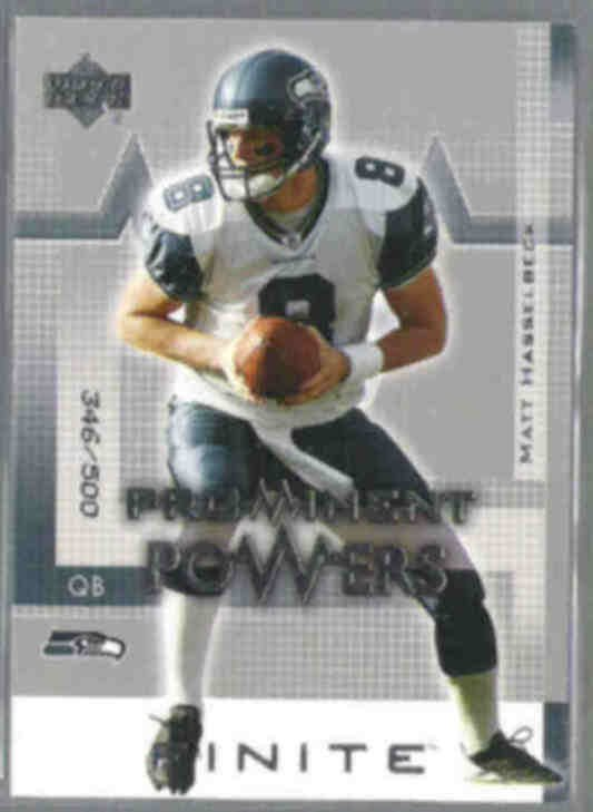 MATT HASSELBECK 2003 UD Prominent Powers #'d 346 / 500