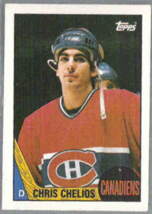 CHRIS CHELIOS 1987 Topps #106.  CANADIENS