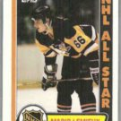 MARIO LEMIEUX 1989 Topps Sticker #3.  PENGUINS