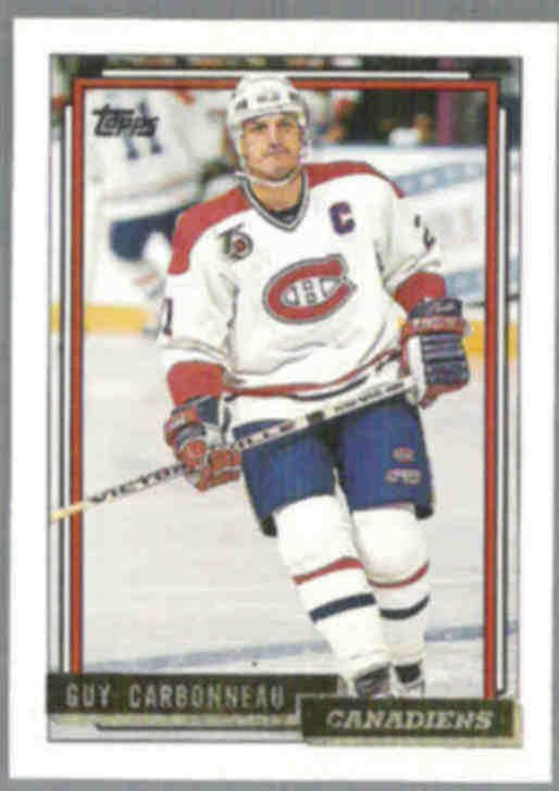 GUY CARBONNEAU 1992 Topps GOLD Insert #125.  CANADIENS
