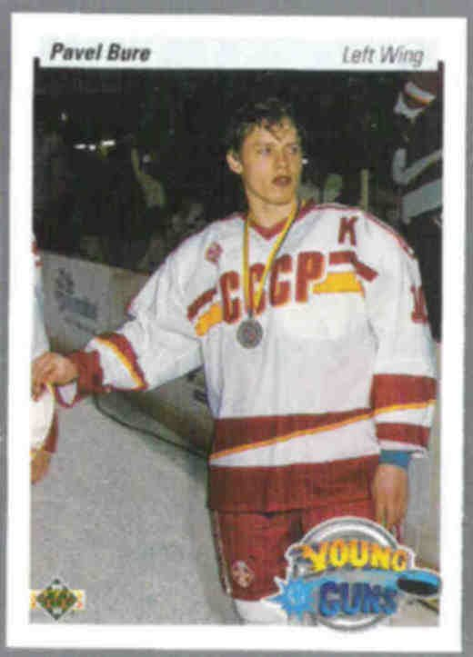 PAVEL BURE 1990 Upper Deck Young Guns #526.  CANUCKS