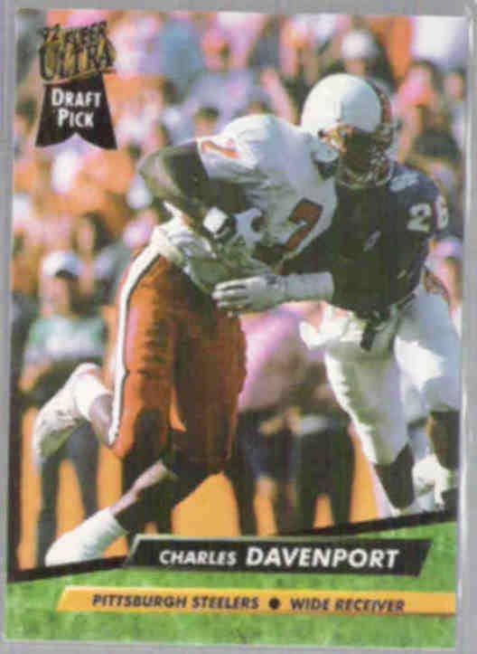CHARLES DAVENPORT 1992 Fleer Ultra Rookie #426.  STEELERS