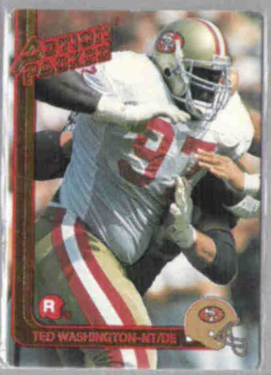 TED WASHINGTON 1991 Action Packed Rookie #39.  49ers