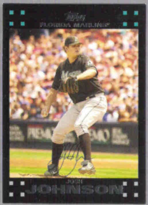 JOSH JOHNSON 2007 Topps #213.  MARLINS