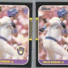 DALE SVEUM 1987 Donruss + 1987 Leaf.   BREWERS