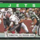 JETS Thawart the Pass Game 1985 Topps #335.