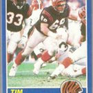 TIM KRUMRIE 1989 Score #69.  BENGALS
