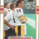 TODD BLACKLEDGE 1989 Topps Traded #31T.  STEELERS