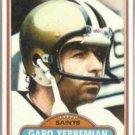 GARO YEPREMIAN 1980 Topps #235.  SAINTS