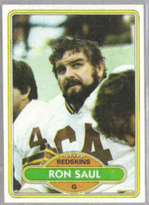 RON SAUL 1980 Topps #351.  REDSKINS