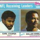 KELLEN WINSLOW 1981 Topps #2.  CHARGERS