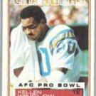 KELLEN WINSLOW 1983 Topps #382.  CHARGERS