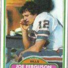 JOE FERGUSON 1980 Topps #348.  BILLS