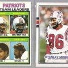 STANLEY MORGAN 1979 + 1989 Topps.  PATRIOTS
