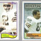 OZZIE NEWSOME (2) Card Topps Lot - 1982 + 1983.  BROWNS