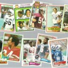 FOOTBALL (12) Card 1978 - 1983 Topps Lot in Nice Shape (2-each)
