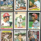 (9) Card HOF / Star Lot w/ Mussina RC, 1984 Carew, 1989 Ripken, 1976 - Sharp
