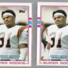 ICKEY WOODS (2) 1989 Topps Super Rookie #27.  BENGALS