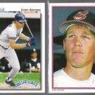 CORY SNYDER 1989 Topps AS Glossy + 1992 UD.  INDIANS
