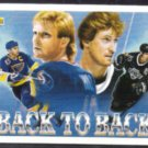 WAYNE GRETZKY 1992 Upper Deck Back to Back #423 w/ Hull.