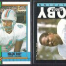 REGGIE ROBY 1985 + 1990 Topps.  DOLPHINS
